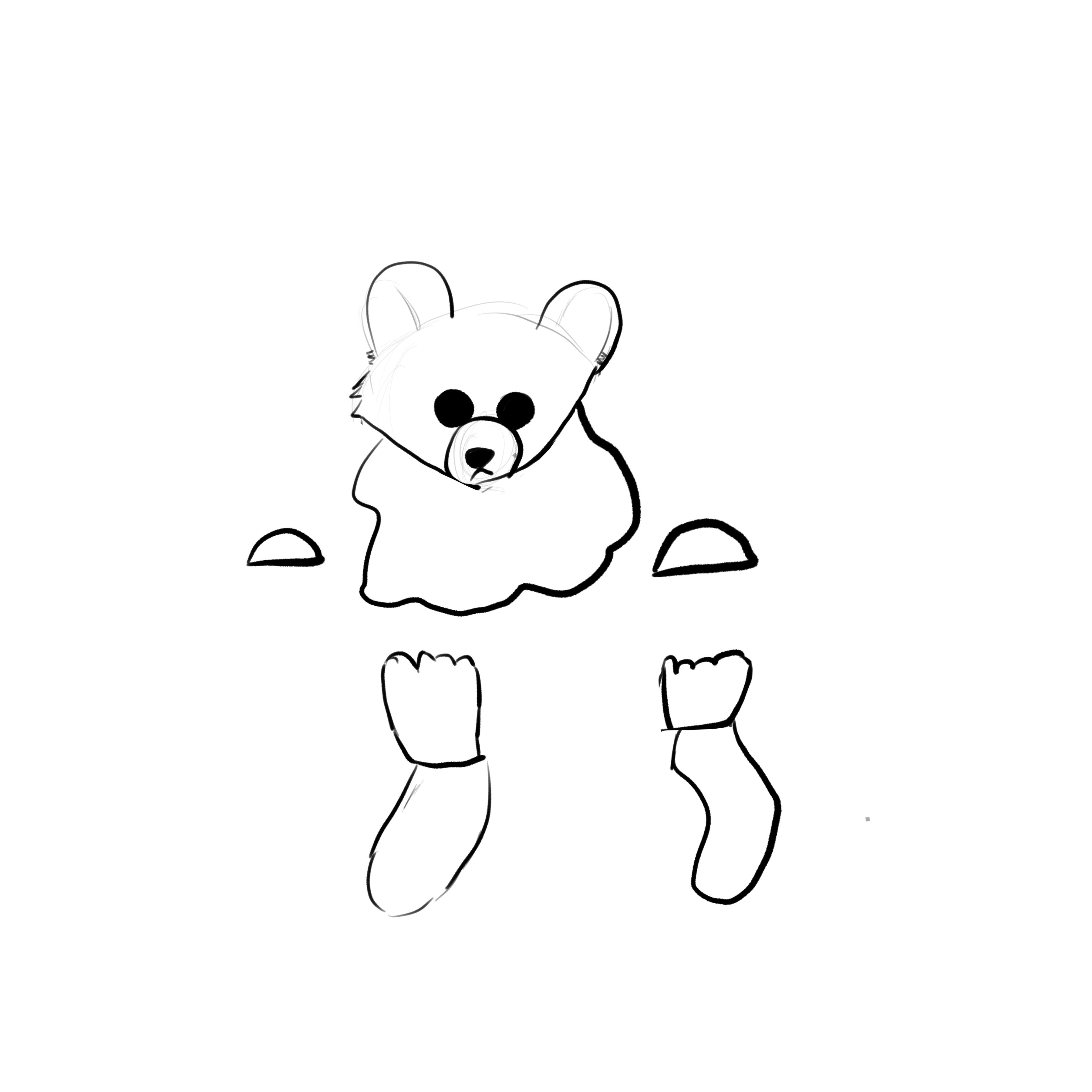 bear sketch outlines